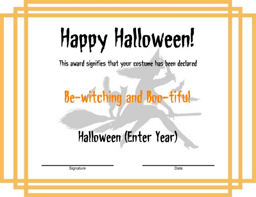 Halloween Award Certificate Template Download Pdf