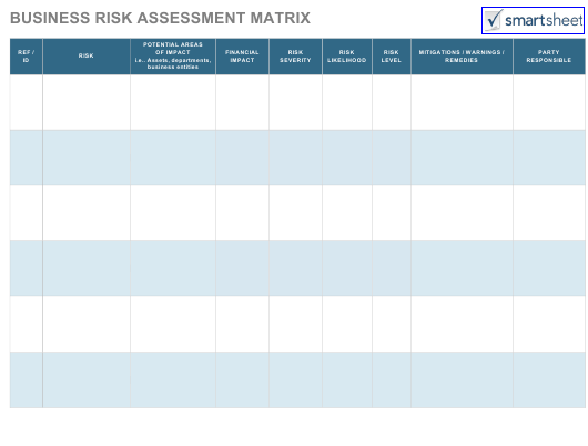 Business Risk Assessment Matrix Schedule Template Download Fillable ...
