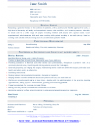Sample Dental Nurse Resume