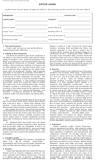 """""""Office Lease Agreement Template"""" - New York"""