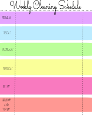 """Multicolor Weekly Cleaning Schedule Template"""
