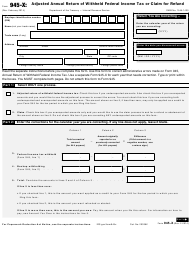 IRS Form 945-X Adjusted Annual Return of Withheld Federal Income Tax or Claim for Refund