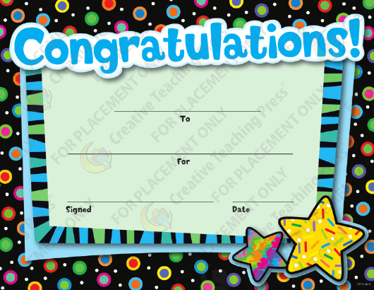 """Congratulations Certificate Template - Creative Teaching Press"" Download Pdf"