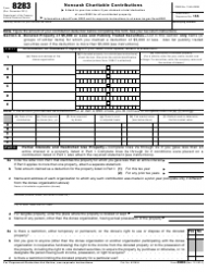 IRS Form 8283 Noncash Charitable Contributions