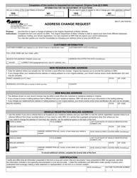"Form ISD01 ""Address Change Request"" - Virginia"