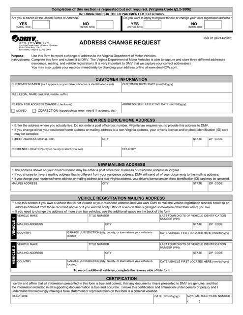 Form ISD01  Printable Pdf