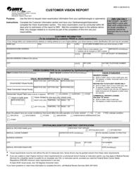 """Form MED4 """"Customer Vision Report"""" - Virginia"""