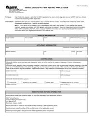 "Form FMS210 ""Vehicle Registration Refund Application"" - Virginia"