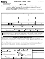"Form MED10 ""Disabled Parking Placard or License Plates Application"" - Virginia"