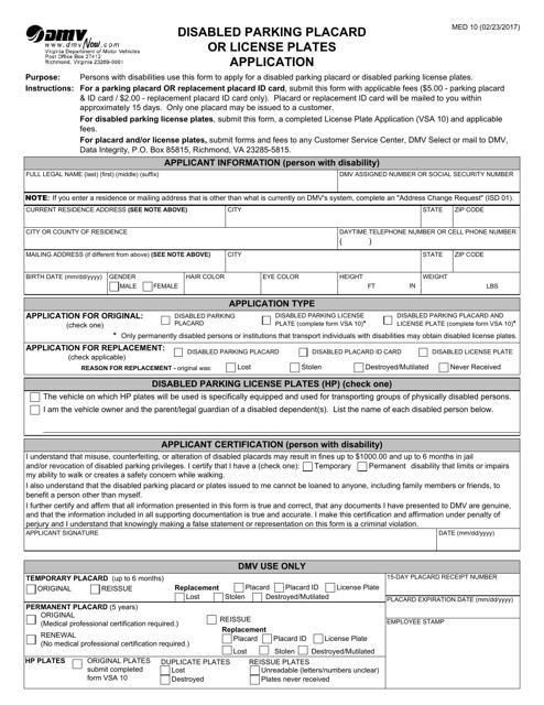 Form MED10  Printable Pdf