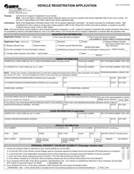 "Form VSA14 ""Vehicle Registration Application"" - Virginia"
