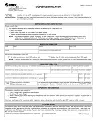 "Form VSA31 ""Moped Certification"" - Virginia"