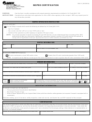 Form VSA 31 Download Fillable PDF, Moped Certification | Templateroller