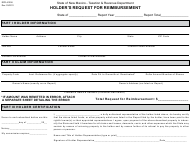 "Form RPD-41206 ""Holder's Request for Reimbursement"" - New Mexico"