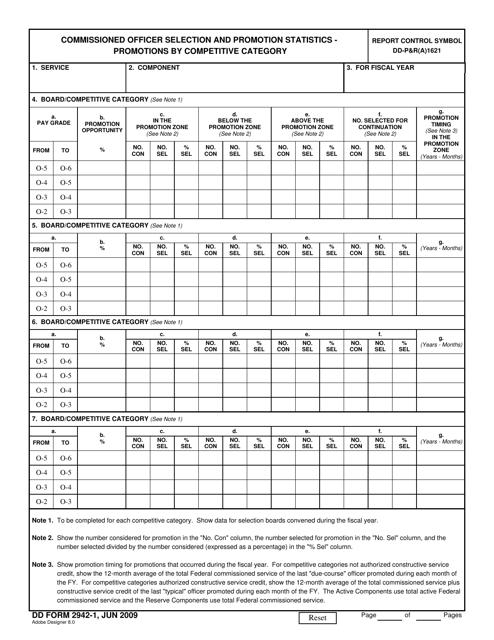 DD Form 2942-1 Fillable Pdf
