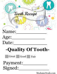 """Tooth Receipt Certificate Template"""