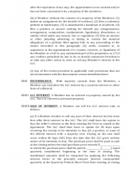 """""""Limited Liability Company Operating Agreement Template"""" - Alaska, Page 10"""