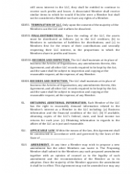 """""""Limited Liability Company Operating Agreement Template"""" - Alaska, Page 12"""