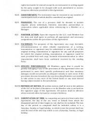 """""""Limited Liability Company Operating Agreement Template"""" - Alaska, Page 13"""