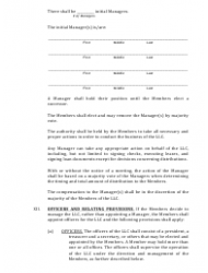 """""""Limited Liability Company Operating Agreement Template"""" - Alaska, Page 4"""