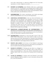 """""""Limited Liability Company Operating Agreement Template"""" - Alaska, Page 6"""