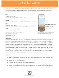 """Jar Soil Test for Kids - Indiana Wildlife Federation"" - Indiana"