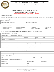 """Appraisal Management Company Registration Application"" - New Mexico"