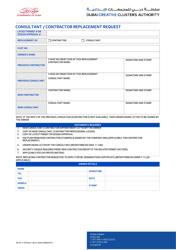 """""""Consultant/Contractor Replacement Request"""" - Dubai, United Arab Emirates"""