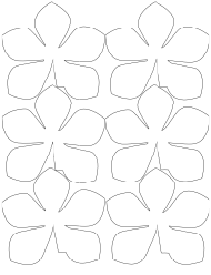 """Large Flower Garland Template"""