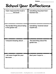 """School Year Reflections Card Template"""