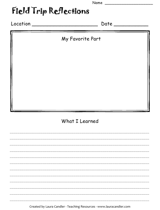 """""""Field Trip Student Feedback Form - Teaching Resources"""" Download Pdf"""
