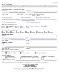 "Form I-783 ""Applicant Information Form"""