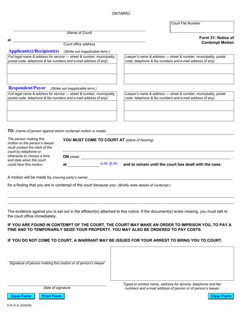 Form 31 Printable Pdf