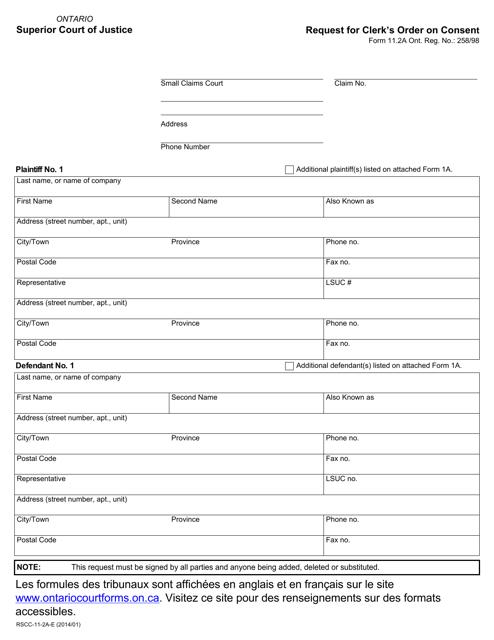 Form 11-2A Printable Pdf