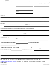 "Form 4B ""Affidavit (Motion for Payment out of Court)"" - Ontario, Canada"