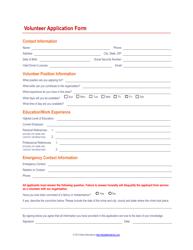 """""""Volunteer Application Form"""""""