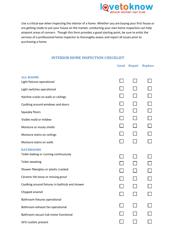 """Interior Home Inspection Checklist Template - Ilovetoknow"""