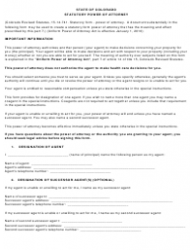 Statutory Power of Attorney Form - Colorado