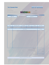 Basic Sales Invoice Template - Blue-Violet Gradient Background