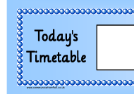 """Blue Large Today's Timetable Classroom Schedule Template"""