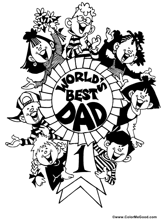 """""""World's Best Dad Coloring Certificate Template"""" Download Pdf"""
