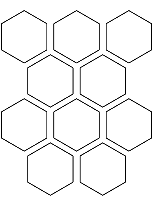 """""""Two and a Half Inch Hexagon Pattern Template"""" Download Pdf"""
