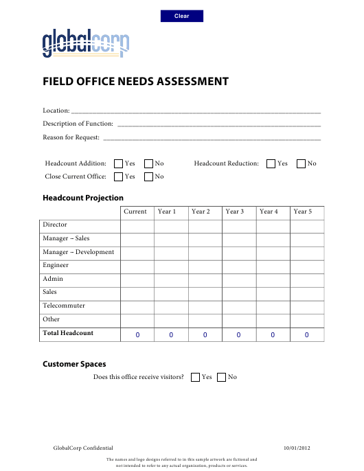"""""""Field Office Needs Assessment Template - Globalcorp"""" Download Pdf"""