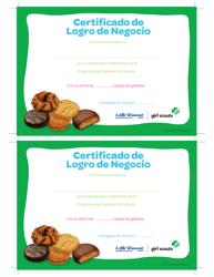 """""""Certificado De Logro De Negocio"""" (Spanish)"""