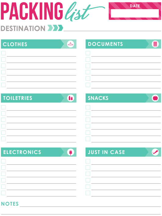 Packing List Template Download Printable Pdf Templateroller