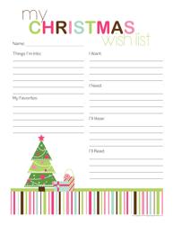"""""""Christmas Wish List Template"""""""