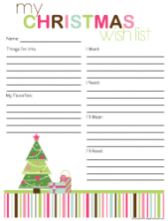 Christmas Shopping List Template Download Printable PDF | Templateroller