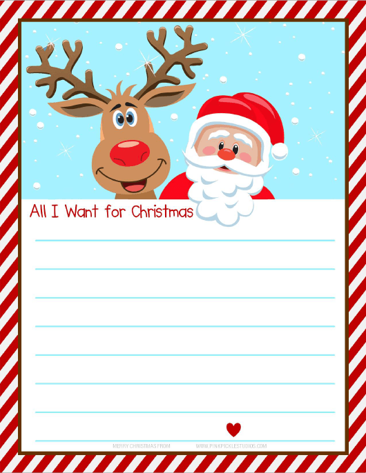 """Christmas Wish List Template"" Download Pdf"