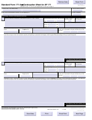 "OPM Form SF-171-A ""Continuation Sheet for SF 171"""
