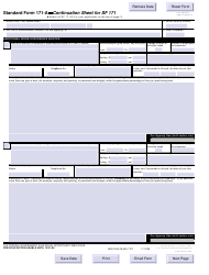 OPM STANDARD Form 171-a Continuation Sheet for Sf 171